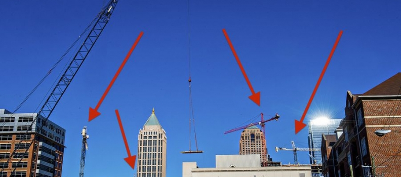 CRANE WATCH ATLANTA'S BIGGEST CONSTRUCTION PROJECTS  by Douglas Sams